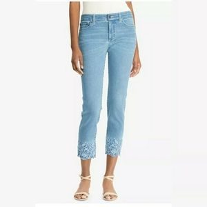 NWT Lauren Straight Crop Embroidered jeans sz 6